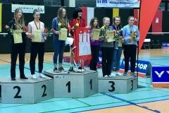 Siegerehrung in Gera im Damendoppel