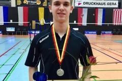 Brian nach der Siegerehrung in Gera