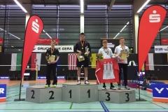 Siegerehrung im Herreneinzel U19 in Gera