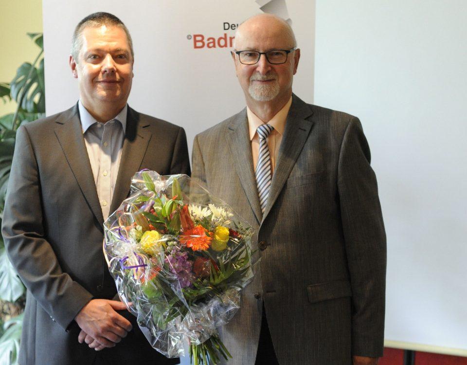 DBV-Präsident Thomas Born (l.) mit seinem Vorgänger Karl-Heinz Kerst. / Foto: Claudia Pauli