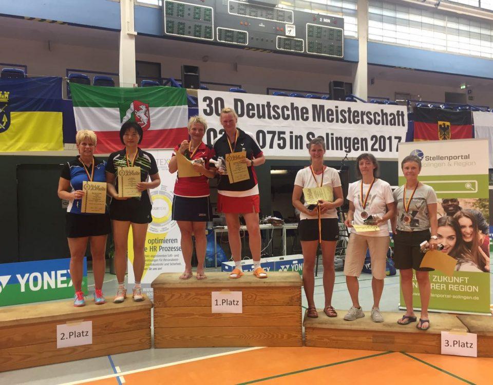 Deutsche Meister im Damendoppel: Gabriela Knauf / Katrin Timmermann (beide SV Kabelw.Oberspree) - Foto: Knauf