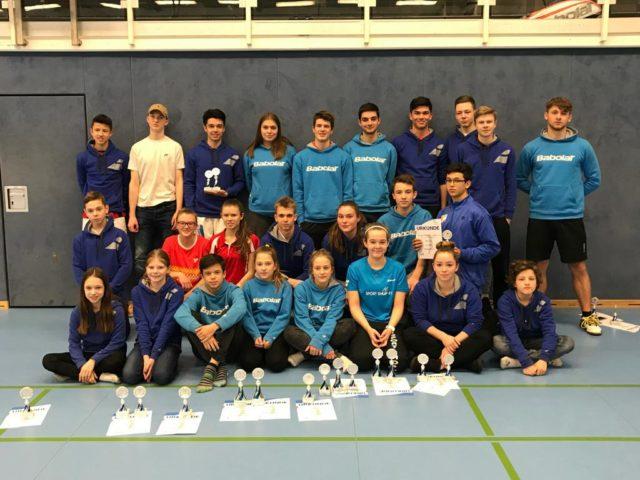 Gruppenbild bei der Norddeutschen Jugendeinzelmeisterschaft 2018