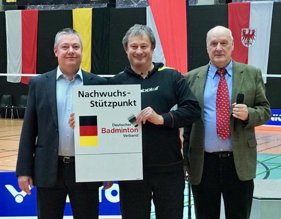 Übergabe des Nachwuchsstützpunkt Schildes anlässlich der deutschen Meisterschaften in Gera - Foto: Carla Strauss (BVBB)