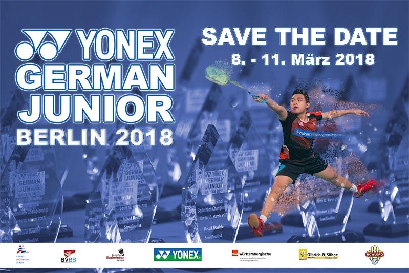 Plakat zur YONEX German Junior 2018