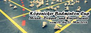 Ausschreibung zum Köpenicker Badminton Cup
