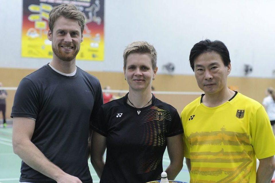 V.l.: Christoph Schnaase, Anja Weber, Xu Yan Wang. @Claudia Pauli