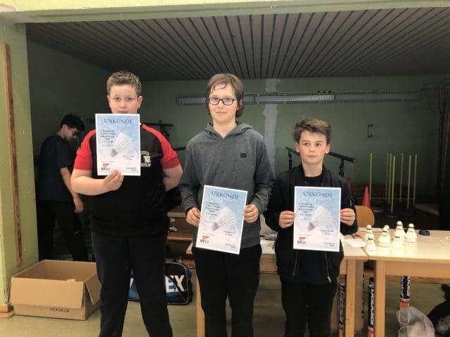 Foto von der U13 und U19 LK III Rangliste der Jungen