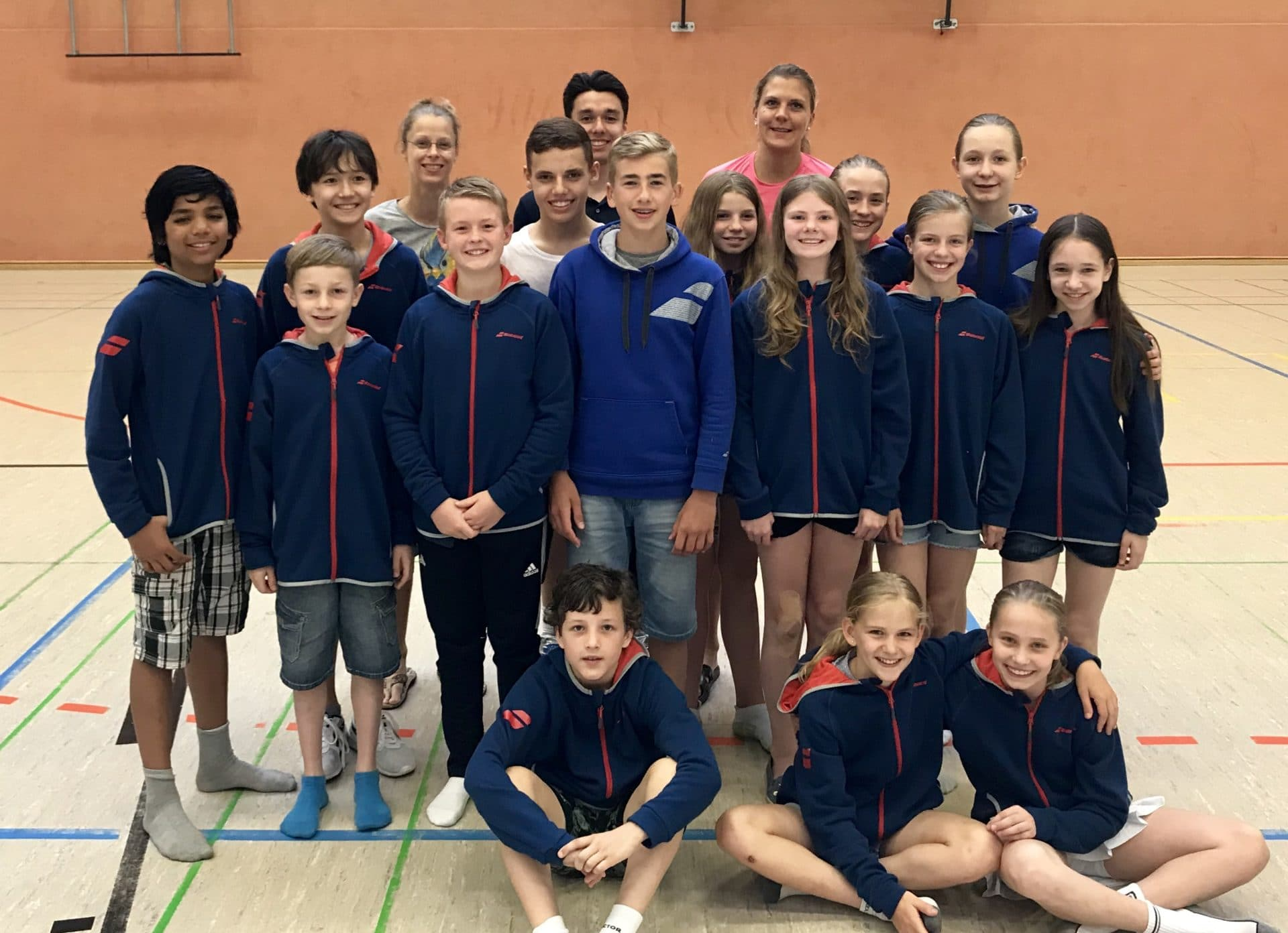 Teamfoto während der 1. Norddeutschen Rangliste U13 & U15 in Merseburg