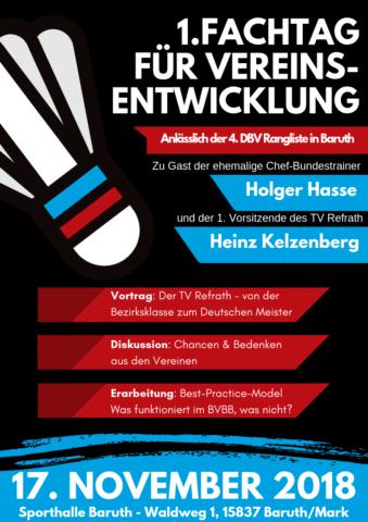 Flyer zum 1. Fachtag für Vereinsentwicklung im BVBB