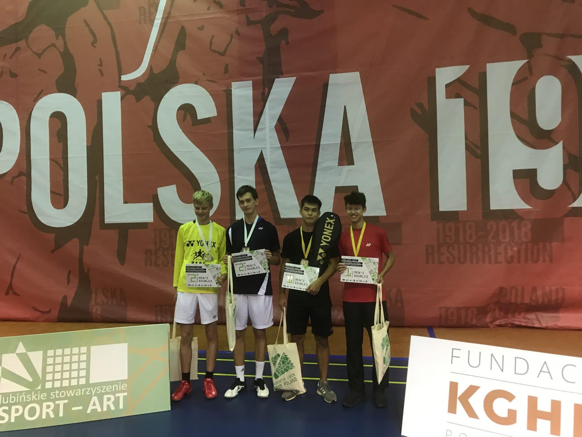 Siegerehrung im Doppel Polish International