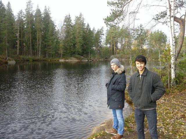 Kian freut sich aufs bevorstehende Doppel, Brian will angeln