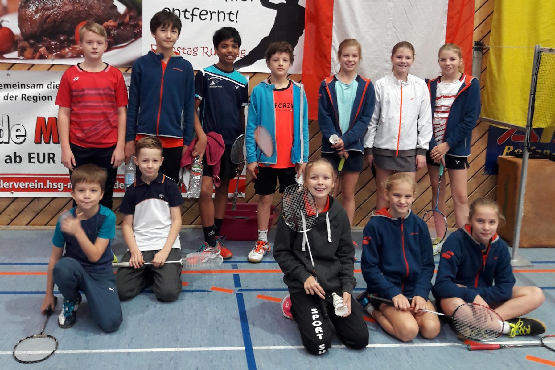 Gruppenbild aus Liebenau vom Wertungsturnier der German Masters Serie U11/U13