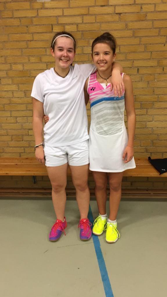 Michelle Kanschik und Julia Meyer bei der Dänischen Eliterangliste U15