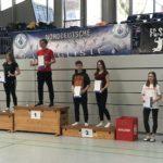 """"""" Ein ungewohntes Erlebnis für Karina: Treppchenbesteigung überregional"""""""