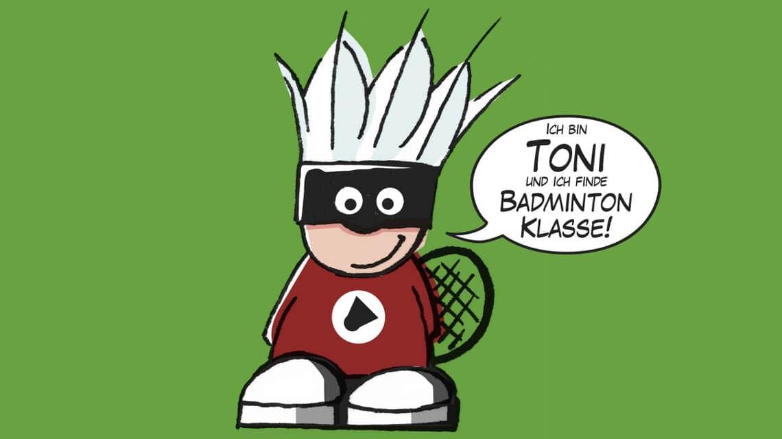 "Grundschulaktion ""Badmintonabenteuer mit Toni"""