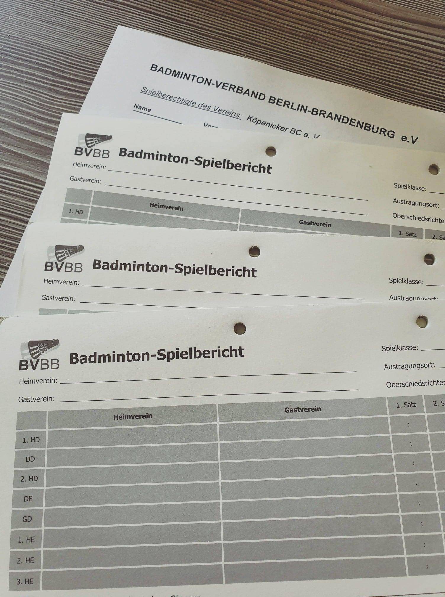 Abholung der BBMM-Unterlagen 2019/2020 (Spielberichtsbögen etc.)
