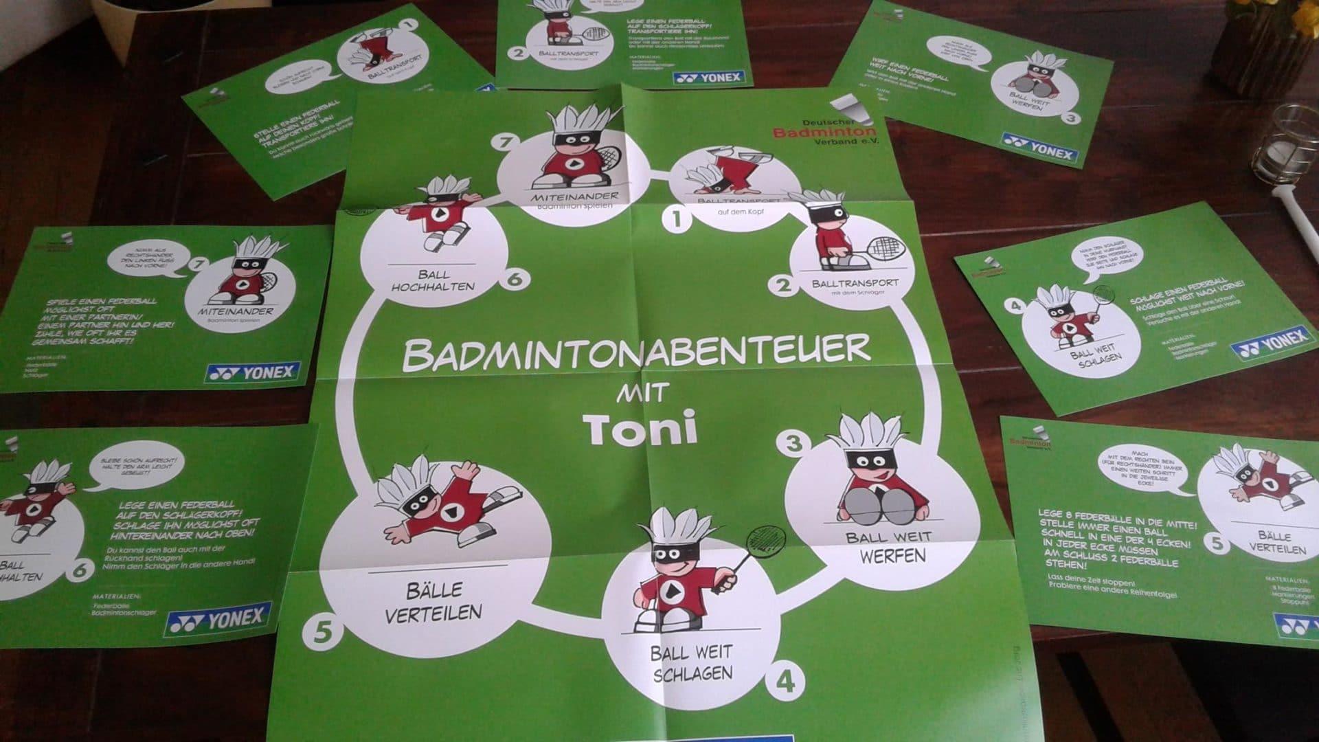 """Badmintonabenteuer mit Toni"""
