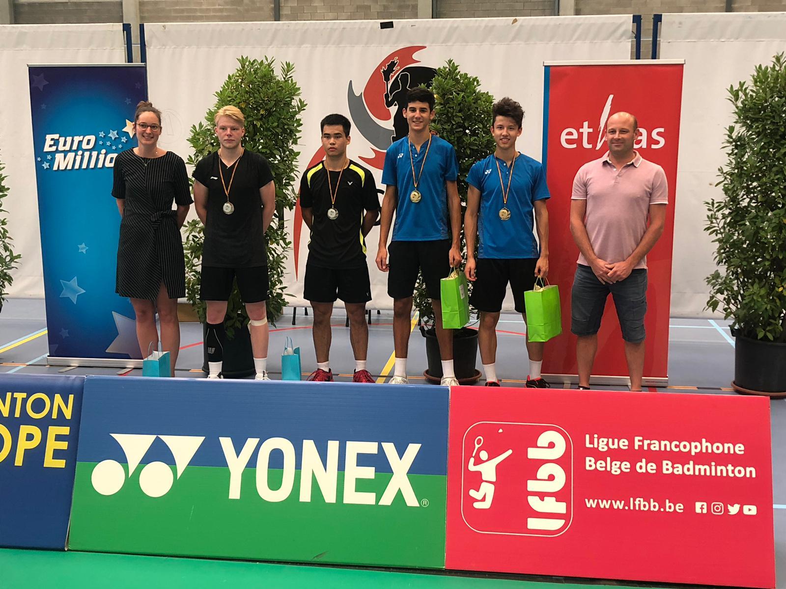 Sieg im Herrendoppel durch Kian-Yu und Malik bei Belgian Junior U 19