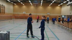 """Ein Bundestrainer zu Gast in Blankenfelde - Workshop """"TAKTISCH CLEVER DOPPEL SPIELEN"""" mit Diemo Ruhnow"""